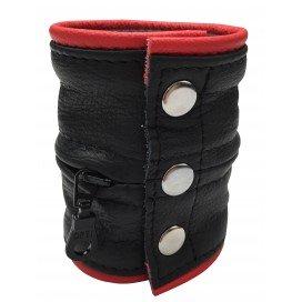 Kiotos Bracelet de force 9.5cm Noir et Rouge