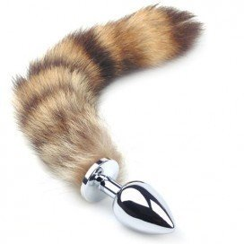 Plug Bijou avec queue Fourrure Medium 8 x 3 cm