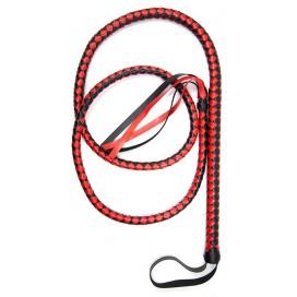 Kiotos Long fouet Whip Duo 190cm Noir et Rouge