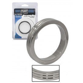 Push Steel Double Deep Ripped Cockring