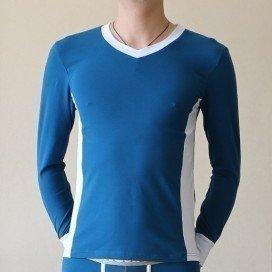 T-shirt Thermique Coton Bleu