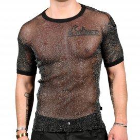 Andrew Christian T-shirt Sheer Sparkle Noir