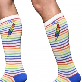 Andrew Christian Chaussettes Pride Stripe