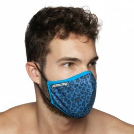 Addicted Masque alternatif LEOPARD Bleu