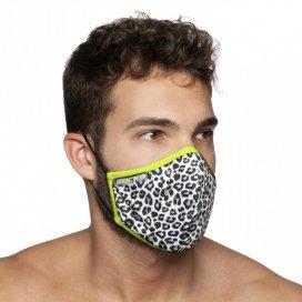 Addicted Masque alternatif LEOPARD Noir et blanc