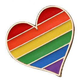 Pin's COEUR Rainbow