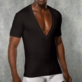 Doreanse T-Shirt Col-V Noir