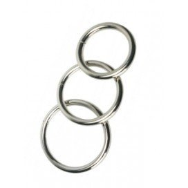 Cockrings Métal Lot de 3