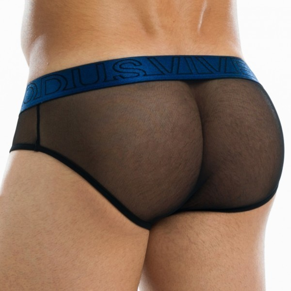 Slip Transparent Brief Bleu
