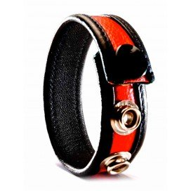 Cockring Cuir Rouge