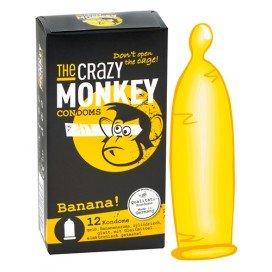 Crazy Monkey Condoms Préservatifs Arôme x12 Banane