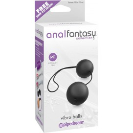 Anal Fantasy Boules anales Duo 3.2cm Noir