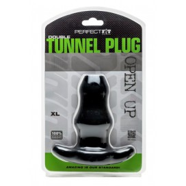 Perfect Fit Double Tunnel Plug Noir Extra-Large
