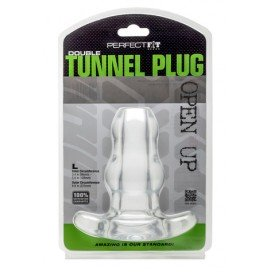 Perfect Fit Double Tunnel Plug Transparent Large