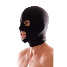 Cagoule BDSM noire 3 trous