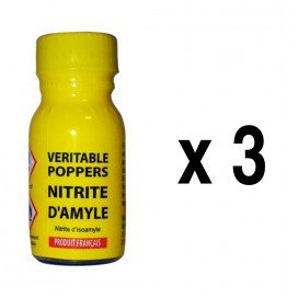 New Millenium Poppers Veritable Nitrite d'Amyle 13ml x3