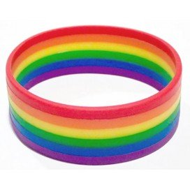 Bracelet Rayures Rainbow Silicone