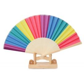 Eventail Rainbow 21cm