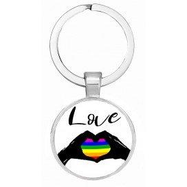 Porte-Clé Love Heart Rainbow
