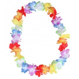 Collier de fleurs Hawaï Rainbow
