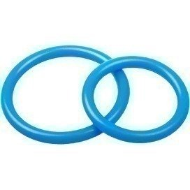 Lot de 2 cockrings Silicone Bleu