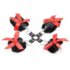 Kit de Menottes Bow Noir-Rouge