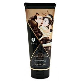 Shunga Crème de massage Comestible CHOCOLAT Enivrant - 200ml