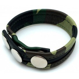 Cockring Cuir Motif Camouflage