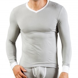 Wang Jiang T-shirt Thermo Modal Gris