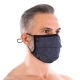 Masque lavable à plis Denim