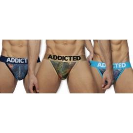 Addicted Tangas BikinisTROPICAL MESH PUSH UP x3