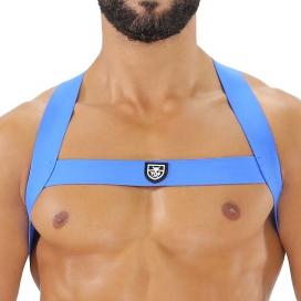 Harnais élastique FETISH X Bleu