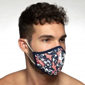 Masque en tissu Flowery Blanc