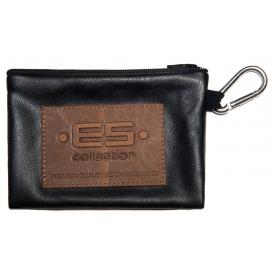 ES Collection Porte Monnaie avec Mousqueton Noir