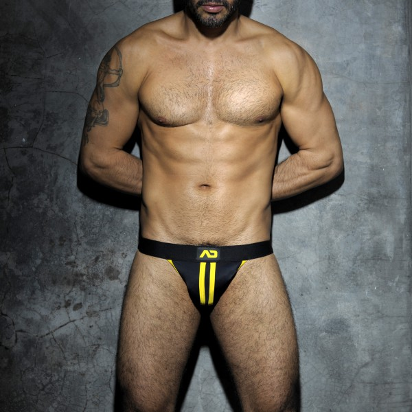 AD Fetish Jockstrap Stripe Fetish Jaune