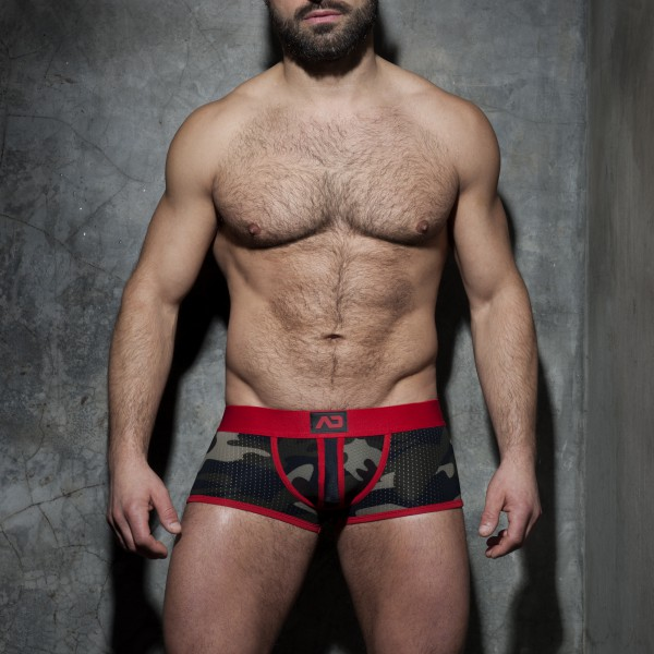 Jock Boxer Camo Stripe Fetish Rouge