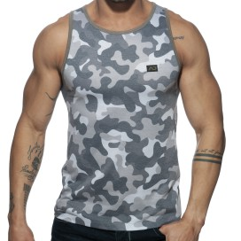 Addicted Débardeur WASHED CAMO Gris