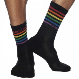 Addicted Chaussettes RAINBOW Noires